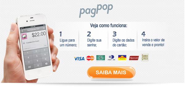 PagPop Cartão de Crédito no Celular sem Maquininha