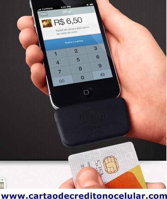 2pay cartão de crédito pelo celular