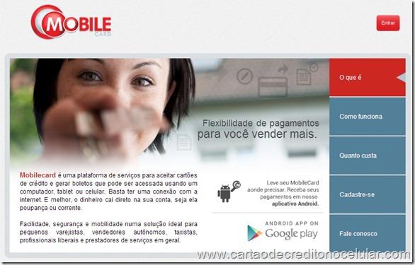 Mobile Card - Aceite Cartões de Crédito Pelo Celular