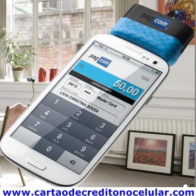 PagCom Cartão de Crédito e Débito pelo Celular Android Apple