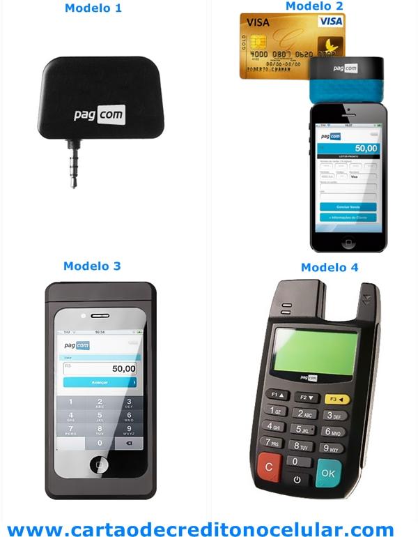 PagCom - Modelos de leitores de cartões de Crédito e Débito para Celulares e Tablets