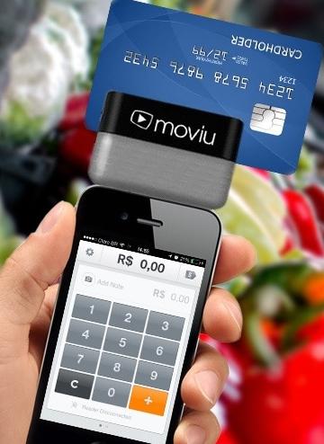 Moviu para Receber catões  de crédito pelo celular