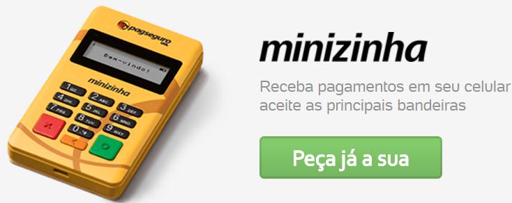 Minizinha PagSeguro - Maquininha de Cartões Amarelinha